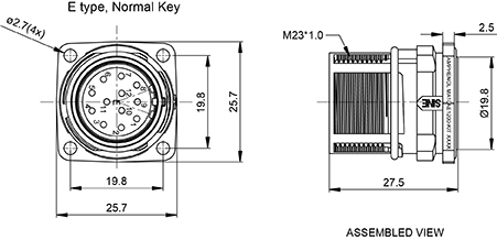 MA1LAE1200 KIT 12 Position Receptacle Kit Straight E Type Pin Contacts p 3512 besides MA2JAE1900 19 Position Receptacle With Extension Checkmate p 5899 further Pz60f3f17 Cz5269d87 4 20mm Wire To Wire Connector For Male Housing With Ear 10 Circuits Ul94v 2 furthermore  on pa66 datasheet