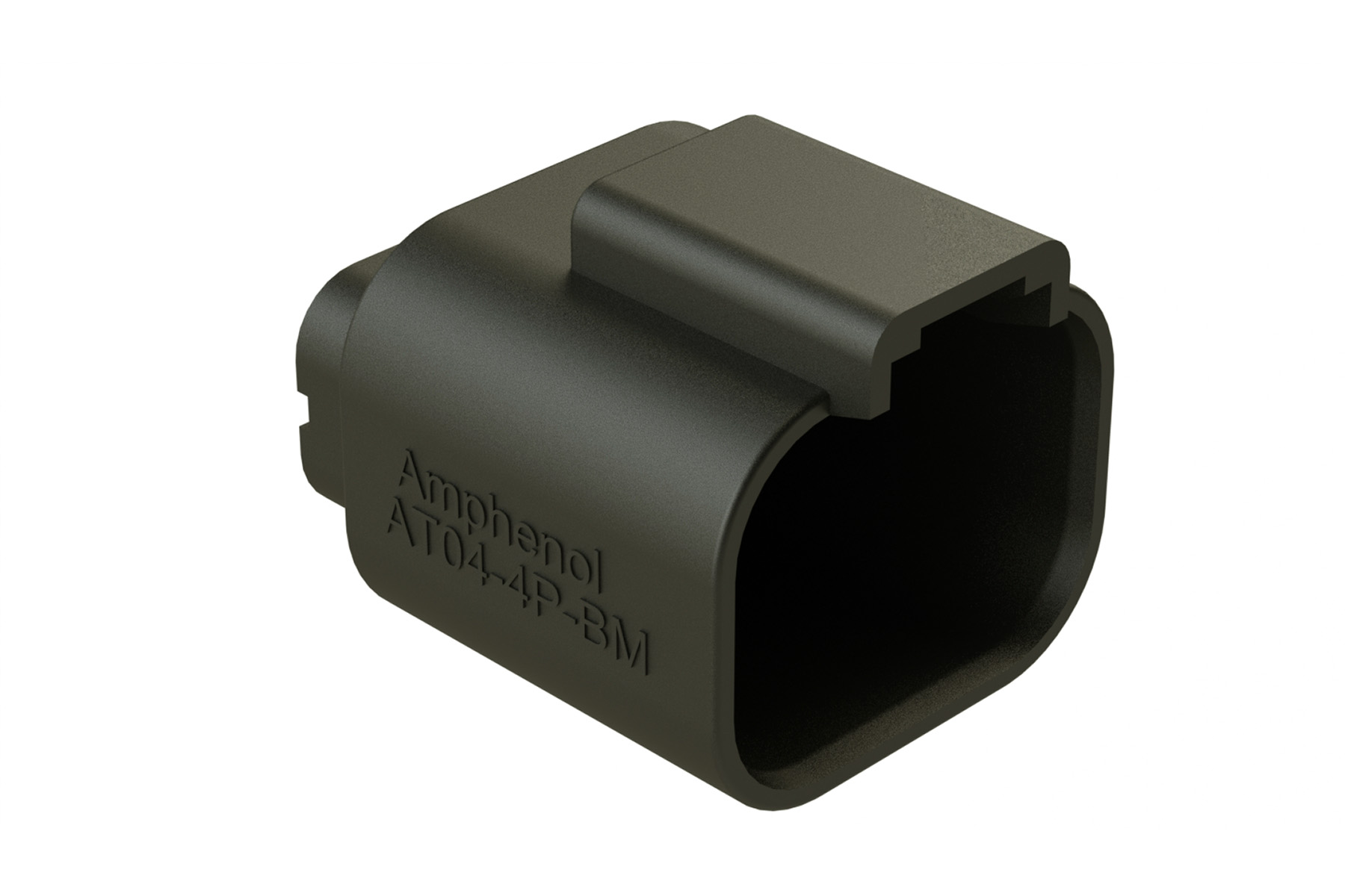 AT04-4P-BM03 4 Position Receptacle, Pin, Nickel contact