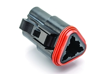 AT06-3S-BLK, 3-Way Plug, Female, Black. Compatible to parts # DT06-3S-E004, DT06-3S-P012