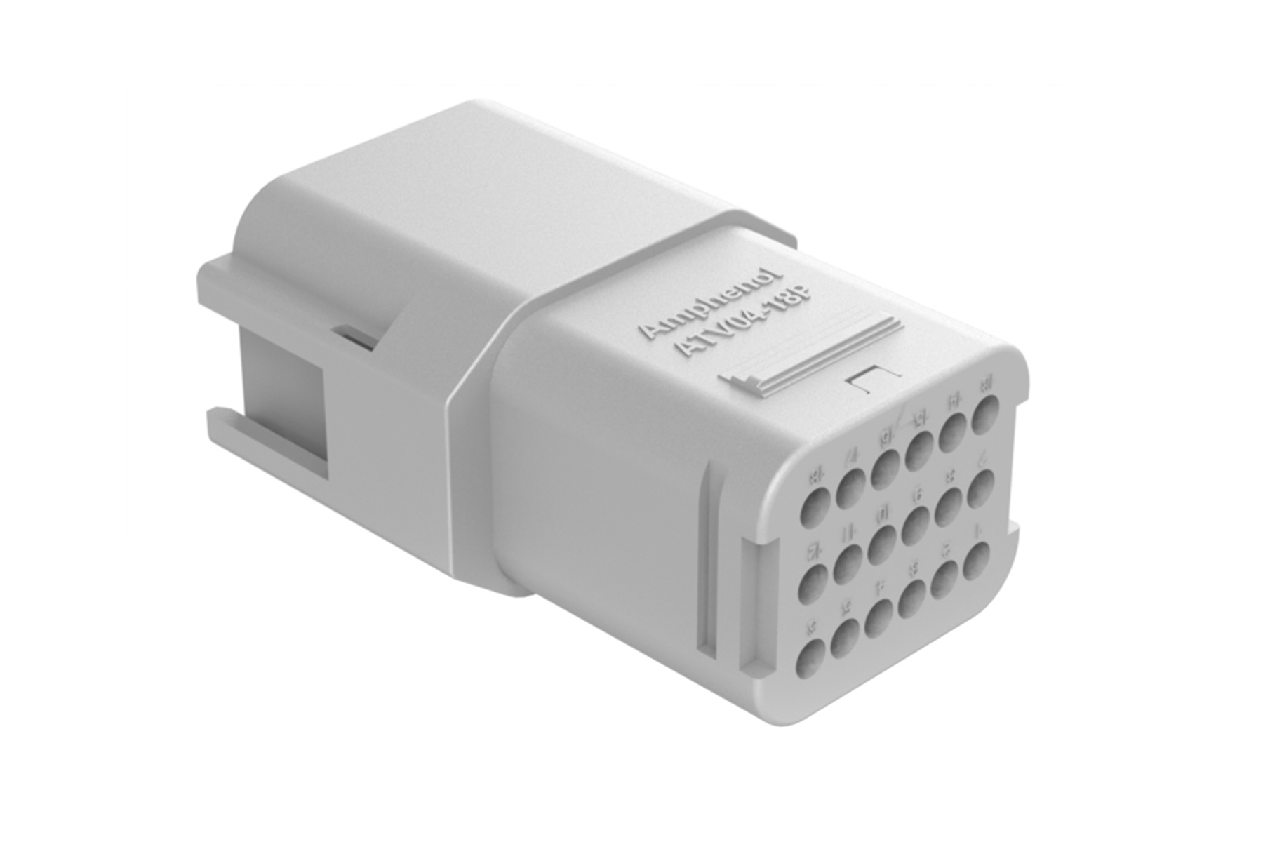 ATV04-18PA 18 position in-line receptacle, Size 16 contact