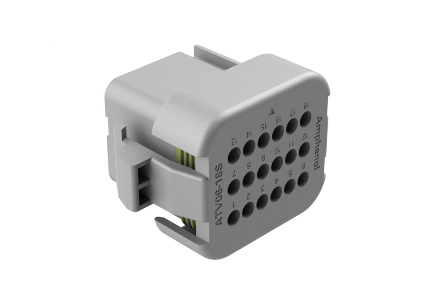 ATV06-18SA-RR01 18 position plug, Size 16 contact, key A