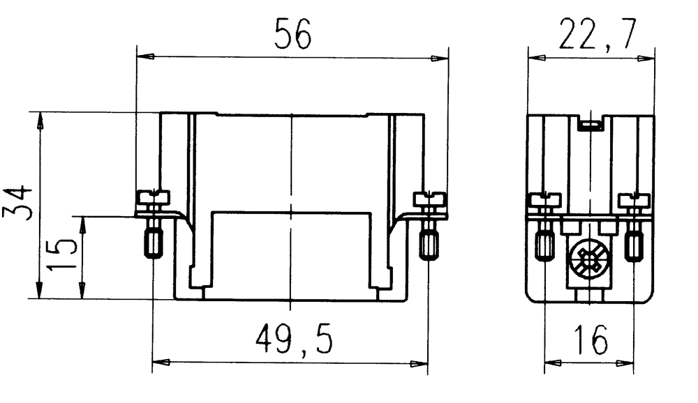 c146 10a015 500 2 15 pe heavy duty male contact insert for turned crimp contacts  contacts