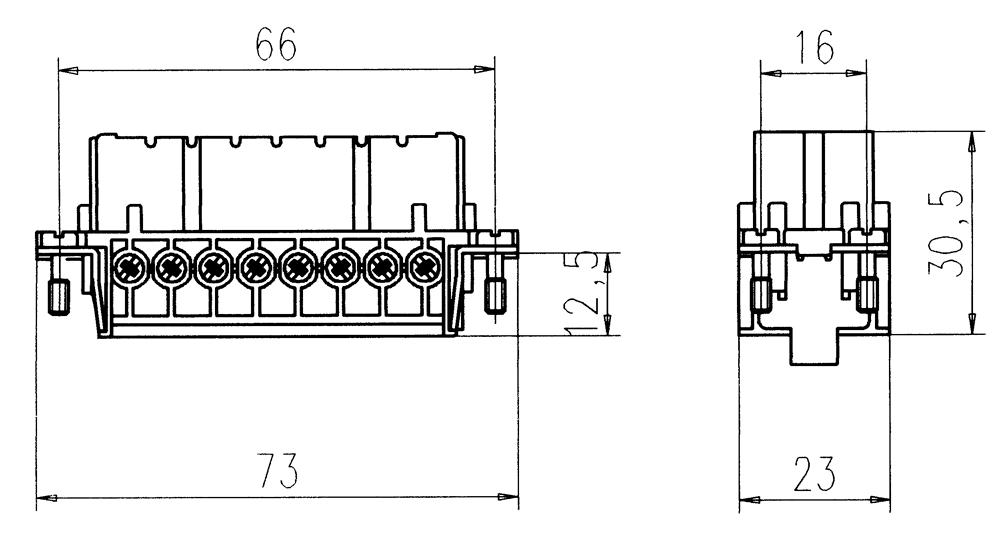 c146 10b016 002 4 16 pe heavy duty female insert for screw