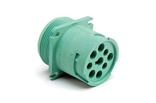 AHD10-9-1939P80 9-Position Receptacle, Male, Flange, Threaded Rear, J1939. Compatible to part # HD10-9-1939P-P080