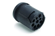 AHD14-9-96P 9-Position Receptacle, Male, In Line, Threaded Rear. Compatible to part # HD14-9-96P