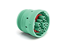 AHD16-9-1939S80 9-Position Plug, Female, Threaded Rear, J1939. Compatible to part # HD16-9-1939S-P080