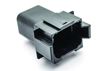 AT04-08PA-BLK 8-Way Receptacle, Male, Black. Compatible to part # DT04-08PA-E004