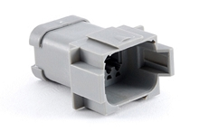 AT04-08PA-MM01 8-Way Receptacle, Male, Reduced Diameter Seal (E-Seal), End Cap. Compatible to part # DT04-08PA-CE01