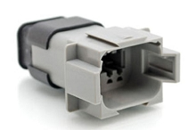 AT04-08PA-SR2GY - 8-Way Receptacle  Male Connector with  Strain Relief and Endcap, Reduced Seal,Position A