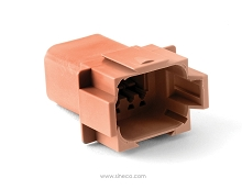 AT04-08PD-RD01 8-Way Receptacle, Male. Compatible to part # D Position Key, Reduced Diameter Seal (E-Seal). Compatible to part # DT04-08PD-C015