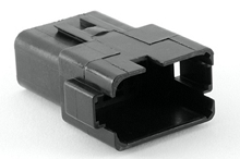 AT04-12PB 12-Way Receptacle, Male, B Position Key, Extended Shroud. Compatible to parts # DT04-12PB, DT04-12PB-B016