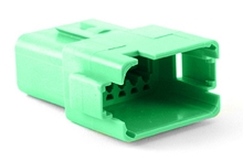 AT04-12PC-RD01 12-Way Receptacle, Male, C Position Key, Extended Shroud, Reduced Diameter Seal (E-Seal). Compatible to part # DT04-12PC-C015