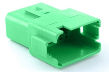 AT04-12PC 12-Way Receptacle, Male, C Position Key, Extended Shroud. Compatible to part # DT04-12PC