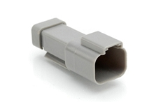 AT04-2P-EC01  2-Way Receptacle, Male Connector with End Cap, Grey. Comparable to parts #DT04-2P-E003, 934441202