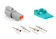 AT04-2P-KIT01 2-Way Pin Receptacle, Wedge and Contacts Kit