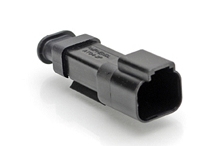 AT04-2P-SR02BLK  2-Way Receptacle Male Connector with .053-.120 Reduced Seal, Black. Comparable to part #934441501