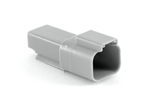 AT04-2P 2-Way Receptacle, Male. Compatible to part # DT04-2P