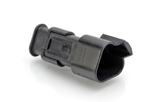 AT04-3P-SR02BLK - 3-Way Receptacle Male Connector with Strain Relief and Endcap, Reduced Seal