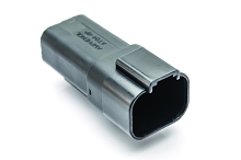 AT04-4P-BLK 4-Way Receptacle, Male, Black. Compatible to part # DT04-4P-E004