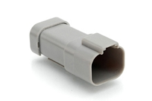 AT04-4P-EC01  4-Way Receptacle, Male Connector with End Cap, Grey. Comparable to parts #DT04-4P-E003, 934443202