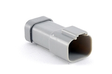 AT04-4P-MM01 4-Way Receptacle, Male, Reduced Diameter Seal (E-Seal), End Cap. Compatible to part # DT04-4P-CE01