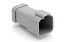 AT04-6P-EC01  6-Way Receptacle, Male Connector with End Cap, Grey. Comparable to parts #DT04-6P-E003, 934444202