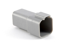 AT04-6P 6-Way Receptacle, Male. Compatible to part # DT04-6P