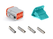 AT06-08SA-KIT01 8 Socket Plug, Wedge and Contacts Kit