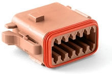 AT06-12SD 12-Way Plug, Female. D Position Key. Compatible to parts # DT06-12SD, DT06-12SD-P012