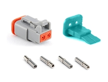 AT06-2S-KIT01 2 Socket Plug, Wedge and Contacts Kit