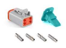 AT06-4S-KIT01 4-Way Socket Plug, Wedge and Contacts Kit