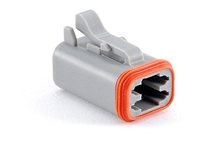 AT06-4S, 4-Way Plug, Female. Compatible to part # DT06-4S