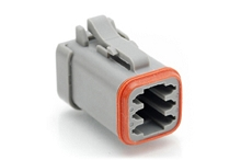 AT06-6S-EC01, 6-Way Plug, Female, End Cap. Compatible to part # DT06-6S-E003