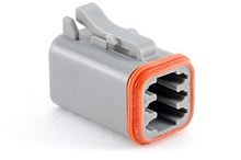 AT06-6S, 6-Way Plug, Female. Compatible to part # DT06-6S