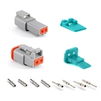 AT2PS-CKIT 2 Pin and Socket Plug, Receptacle, Wedge and Contacts Kit