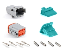 AT8PS-CKIT 8-Way Pin and Socket  Plug, Receptacle, Wedge and Contacts Kit