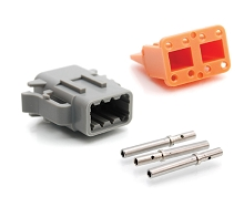 ATM06-08SA-KT01 8-Way Socket Plug, Wedge and Contacts Kit