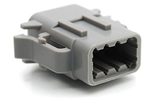ATM06-08SA 8-Way Plug, Female, A Position Key.  Comparable to PN #DTM06-08SA