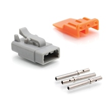 ATM06-3S-KIT01 3-Way Socket Plug, Wedge and Contacts Kit