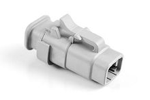 ATM06-4S-SR01GY 4-Way Plug, Female with Strain Relief