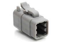 ATM06-6S 6-Way Plug, Female.  Comparable to PN #DTM06-6S