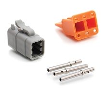 ATM06-6S-KIT01 6-Way Socket Plug, Wedge and Contacts Kit