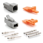 ATM2PS-CKIT 2-Way Pin and Socket Plug, Receptacle, Wedge and Contacts  Kit