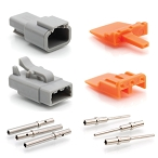 ATM3PS-CKIT 3-Way Pin and Socket Plug, Receptacle, Wedge and Contacts Kit