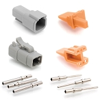 ATM4PS-CKIT 4-Way Pin and Socket, Plug, Receptacle, Wedge and Contacts Kit