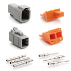 ATM6PS-CKIT 6-Way Pin and Socket Plug, Receptacle, Wedge and Contacts Kit