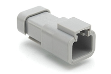 ATP04-2P-EC01 2-Way Receptacle, Male with End Cap. Compatible to part # DTP04-2P-E003