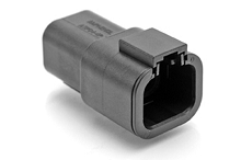 ATP04-4P-BLK 4-Way Receptacle, Male, Black. Compatible to part # DTP04-4P-E004
