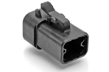 ATP06-4S-BLK 4-Way Plug, Female, Black. Compatible to part # DTP06-4S-E004