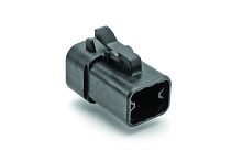 ATP06-4S-RD01BK 4-Way Plug, Female Connector with Reduced Diameter Seal, Black